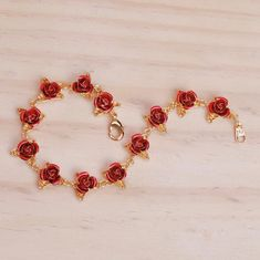 """Product ID: Material: Gold Plated Copper Length: Each rose represents: Passion Love Respect Affection Unity Trust Purity Happiness """"Soulmate"""" Friendship """"My forever"""" Gratitude. 12 Roses, Sunflowers And Roses, Dozen Roses, Soulmate Friendship, Kawaii Store, Lush Beauty, Sunflower Jewels, Kawaii Bags, Copper Bracelet"""
