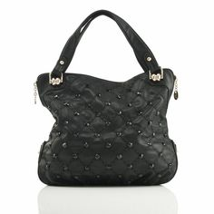 93594926700f $89.99 Polo Villae Black Bead-Studded Handbag from The Shopping Channel