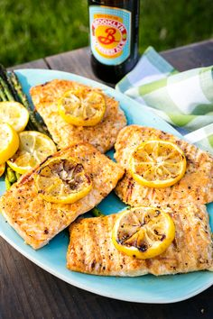Lemony Grilled Salmon