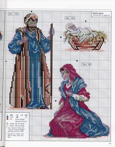 Make in individual frames.Cross-stitch Holy Night Nativity Set, part Xmas Cross Stitch, Cross Stitch Needles, Beaded Cross Stitch, Counted Cross Stitch Patterns, Cross Stitch Charts, Cross Stitching, Cross Stitch Embroidery, Hand Embroidery, Faith Crafts