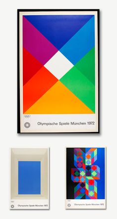 His work was included in the Munchen Olympic posters in 1972 with other renown artists such as Josef Albers and Victor Vasarely. More about Max bill here.