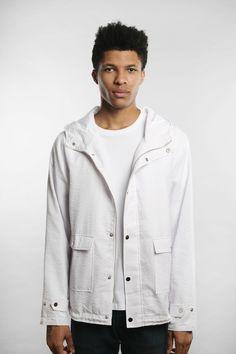 Qilo - Seersucker Anorak Jacket in White