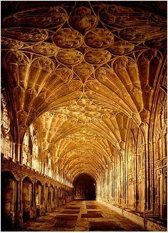 Catedral de Gloucester, Inglaterra. Foto por ámbar