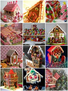 Collection of gingerbread house ideas