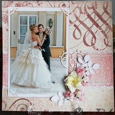 Wedding scrapbooking layout / Свадебная скрап страничка