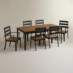 San Clemente Outdoor Dining Collection - table $399.99, set of 2 arm chairs $259.98, set of 2 side chairs $239.98