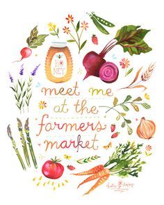 Saturday mornings are best spent at the Farmer's Market.