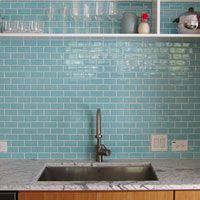 6th ave cocoon mosaic pale sky kitchen backsplash pinterest mosaik himmel und metro fliesen - Ubahn Fliese Backsplash Ideen