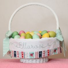TaDa! Creations Easter basket liners, made to fit Pottery Barn Sabrina Easter Baskets.