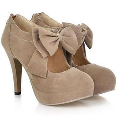 Butterfly Knot Suede High Heel Sandals