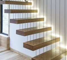 Image result for floating staircase with railing