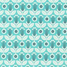 Deco Floral | Spearmint from Grey Abbey by Elizabeth Olwen for Cloud9 Fabrics