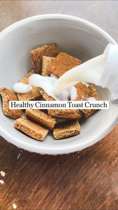 Vegan Breakfast Recipes, Vegan Recipes, Snack Recipes, Clean Eating Breakfast, Breakfast Dessert, Cinnamon Toast Crunch, Food Allergies, Healthy Treats, Yummy Food