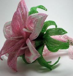 May #Flowers  French beaded  calla lily bridal by BeadFloraJewels, $1140.00  #beadart #beadedflowers
