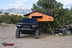 Toyota Tacoma Rooftop Tent, Adventure Rig #toyota #tacoma #rooftoptent #adventurerig #expeditionrig #lowrangeoffroad