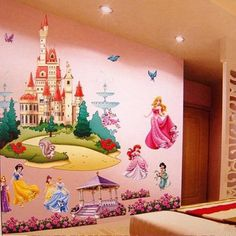 Disney Removable 3D Princess Castle Wall Decal Wall Sticker Kids Room Home Decor | eBay