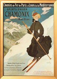 Sports d'Hiver Chamonix Prints