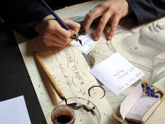 Personalized labels by hand at Buly 1803.