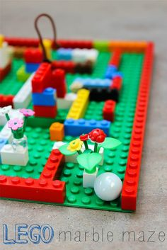 LEGO marble maze! Going to try this tomorrow