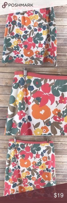 Boden A-Line Skirt US 12R Floral Lined Boden Women's A-Line Skirt US 12R 100% Cotton Floral Lined Career  Excellent Pre-Owned Condition.   All measurements (inches) approximate and laying flat.  Waist: 17  Length: 23  Be sure to check out my other items! Boden Skirts A-Line or Full