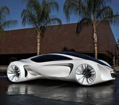 Mercedes-Benz BIOME...reminds of some of the flying cars in Back to the Future II