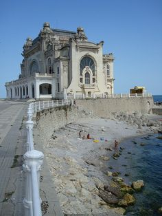 Abandoned casino in Constanta, Romania, on the Black Sea. It's been empty since the Communist era (built in 1905).