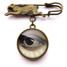 Vintage Eye Hare Pin Brooch (ER07)