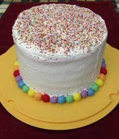 Rainbow cake per festa carnevale!