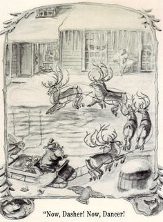 """The Night Before Christmas"" illustrated by Tasha Tudor, 1978 (https://www.etsy.com/listing/115680376/tasha-tudors-the-night-before-christmas?ref=listing-shop-header-0)"