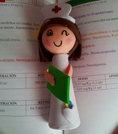 Minifofucha para decorar lápices #nurse #fofucha #gomaeva