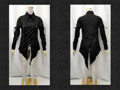 【楽天市場】ゴスロリ ゴスパンク V系 ボンンテージベルトシャツ ブラウス燕尾 2色:PARROT
