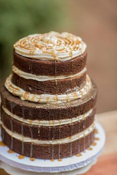 Naked cake. A new trend. Icing has always been too sweet.