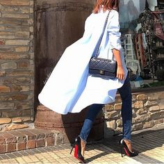 A kind of look . Elle Fashion, Classy Fashion, Fashion Shoes, Classy Dress, Everyday Look, Bell Sleeve Top, My Style, Instagram Posts, Beauty
