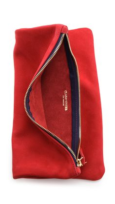 553c74ce245c Clare Vivier Fold Over Clutch in Red