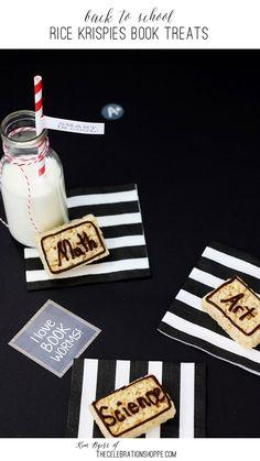 Back To School Snack – Simple Book Rice Krispies Treats | Kim Byers, TheCelebrationShoppe.com