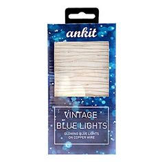 Ankit LED Vintage Blue String Lights Copper Wire Lights Indoor Outdoor Vintage Ocean Blue Waterproof 45 LEDs 15 Feet ** Check out this great product.