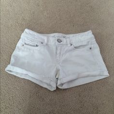 american eagle white Jean shorts! in perfect condition!! look brand new! selling bc they're too big American Eagle Outfitters Shorts Jean Shorts