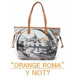 Shopping  bag ORANGE ROMA  YNOT  Borsa Arancione add1d25d534