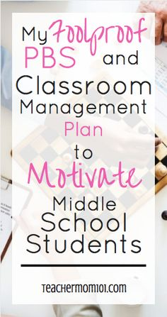 A Fullproof PBS and Classroom Management Plan for Middle School - Teacher Mom 101 school Science A Foolproof PBS and Classroom Management Plan for Middle School Middle School Management, Middle School Behavior, Classroom Management Plan, Middle School Music, Middle School English, Middle School Classroom, Classroom Behavior, Middle School Science, Middle School Incentives