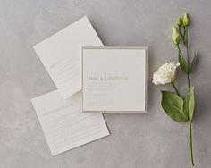A stunningly simple wedding stationery design, the Embossed style is sure to wow your guests with its unique timeless quality and luxury feel. This elegant wedding invitation has a stylish simplicity and is handprinted in the UK. Embossed Wedding Invitations, Elegant Invitations, Elegant Wedding Invitations, Classic Wedding Stationery, Stationery Design, Simple Weddings, Creative Business, Personalized Gifts, Unique Gifts