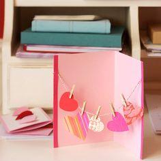 Hanging Hearts Card