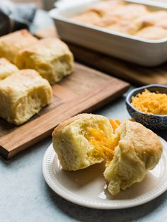 Cheddar Parker House Rolls -- you'll love this cheesy twist to the classic roll! Made with #CacheValleyDairy #skexperts #ad