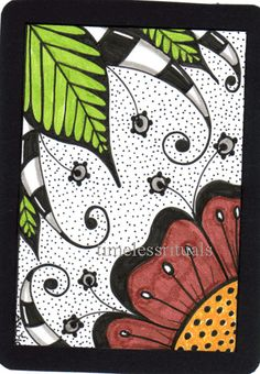 Doodle Flowers 5 (traded to Marnie) | Flickr - Photo Sharing!