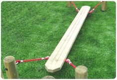 Wooden Suspended Plank | School Playgrounds