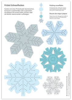 Tingle snowflakes - tinker sheet for tingle for mobile or garland - Zaueqh - Let& Pin Prickel-Schneeflocken – Bastelbogen zum Prickeln für Mobile oder Girlande – Zaueqh – Let's Pin This Cliquez ici pour l& complète! Winter Crafts For Kids, Winter Kids, Winter Christmas, Diy For Kids, Christmas Crafts, Simple Snowflake, Snowflake Craft, Good Evening Greetings, 3d Snowflakes