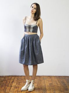 SS•2015  Ralph Skirt • faded indigo
