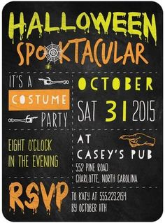 All your friends will RSVP to your Halloween Spooktacular when they receive this haunting party invitation.