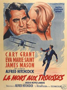 North by Northwest Cary Grant cult movie poster #11