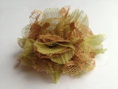 Flower Hair Clip Olive by Lilica on Etsy, $5.00