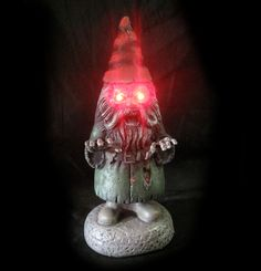 Winning bid: US $24.50 [ 16 bids ] LED Lighted Evil Garden Gnome Haunted House Halloween Party Decoration Prop 16""